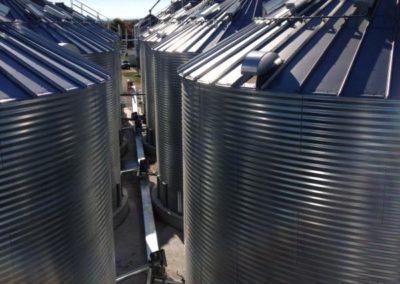 top of farm bins