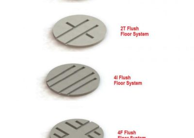 types of flush floor systems
